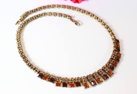 rhinestone necklace bracelet images Vintage necklaces and antique costume jewelry necklaces and jpg