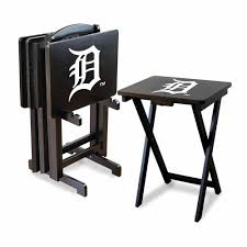 detroit tigers pool table cover detroit tigers 4 tv tray and stand set imp 86 2015 the home depot