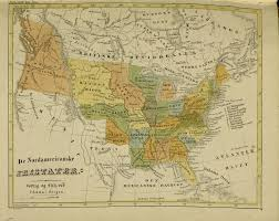 Map Of Te United States by Map Of The United States Published In Norway Cirka 1840 Details