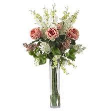 home decoration stunning faux floral arrangements decorative