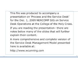 Service Desk Management Process Process And The Service Desk Ppt Download