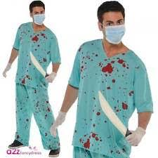amscan adults bloody unisex scrubs doctor surgeon halloween fancy