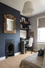 the darker wall is royal henry from valspar paints and the lighter