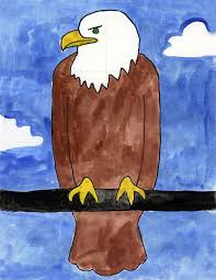 how to draw a bald eagle art projects for kids