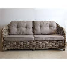 canape en osier canapé vermont 2 5 places avec coussins vannerie du boisle