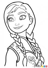 coloring cute frozen anna drawing mesmerizing step 09 png