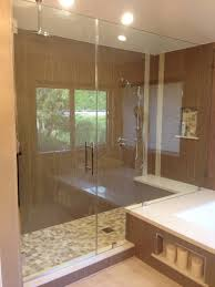 heavy frameless glass shower enclosure oak park ca y9 inc