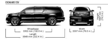 cadillac escalade size car blueprints cadillac escalade esv blueprints vector drawings
