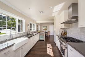kitchen traditional kitchen design with galley kitchen and light