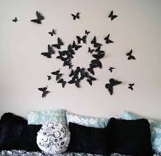 wall decoration ideas with paper butterfly ash999 info