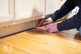 how to trim base cabinets more like home how to turn stock cabinets into diy built in s