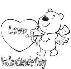 coloring page valentine coloring pages for preschool coloring