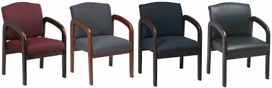 Fabric Guest Chairs Office Guest Chair With Wood Finish Wd380