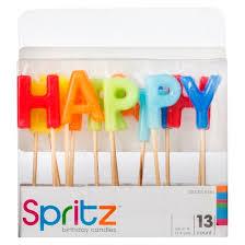 happy birthday candles 13ct happy birthday birthday candle spritz target