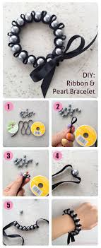diy pearl bead bracelet images Diy ribbon pearl bracelet tutorial diy crafts tips jpg