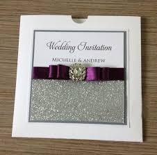 pocketfold wedding invitations silver glitter wedding invitations