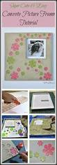 How To Make Homemade Concrete by How To Make A Diy Concrete Picture Frame Tutorial Do It