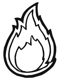 top 10 coloring pages flames white outline of clipart image
