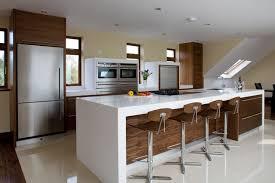 White Designer Kitchens Walnut And White Modern Kitchen Other Metro Darren