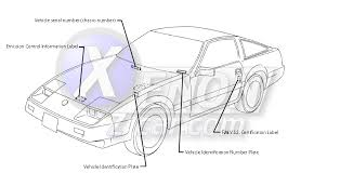 xenonzcar com z31 vehicle identification number and other id info