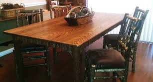 Hickory Dining Room Table by Rustic Tables From Adirondack Rustic Designs