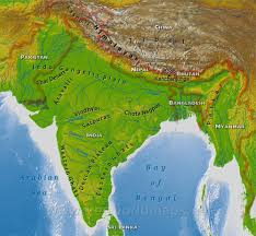 South Asia Physical Map India Why Was Calcutta A Node In The Opium Smuggling Network