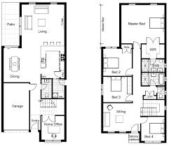 ground floor first floor home plan modern two floors house idea features cool modern home design