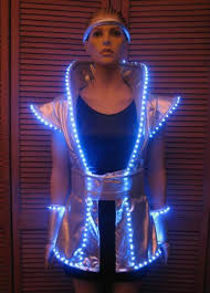 led luminous dress for performance noble clothing light up dress