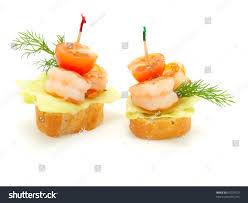 made com canapé canape made shrimp stock photo 65579323