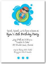 kid u0027s pool party invitations beach invitations swim party