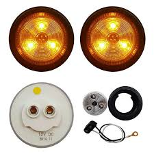 2 clear lens led marker clearance lights recpro