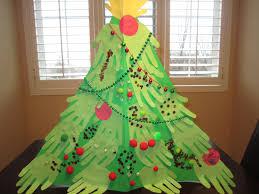 make a handprint christmas tree christmas lights decoration