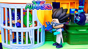 pj masks gekko cat boy jail saved owlette fight romeo