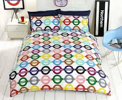 london underground bedding duvet cover transport theme tube line