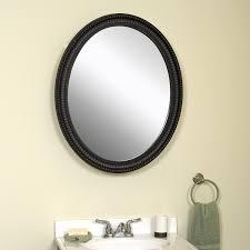 amazon com zenith bmv2532bb oval mirror medicine cabinet oil