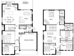 Single Story House Floor Plans Amazing Idea Two Story House Plans Autocad 13 Ordinary 3 Bedroom