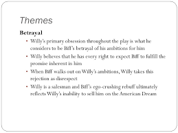 betrayal themes in literature themes motifs and symbols january 2012 arthur miller death of a