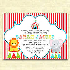 circus baby shower circus themed baby shower invitations jankoelling me