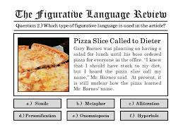 Barnes Pizza The Figurative Language Review Volume 0 Fifteen Review Questions