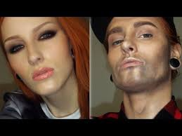 woman to a man makeup transformation tutorial to boy make up you