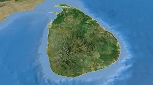 Map Of Sri Lanka Sri Lanka On The Satellite Map Outlined And Glowed Elements Of