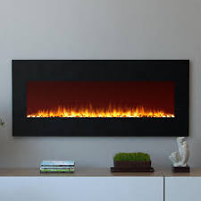 The Powder Room Oxford Moda Flame Oxford 50 In Wall Mounted Electric Fireplace In Black