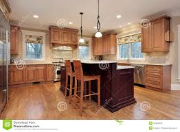kitchen with double decker island stock photography image 35342342