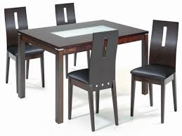 wood and glass dining table and chairs modern glass dining room dining tables for small spaces glass dining room tables with wood inlay