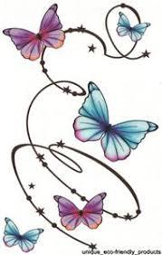 butterflies swirl sheet tat 4 50 x 7 big size brand design