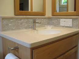 Best Bathroom Vanities by Thin Strip Of Glass Tile As A Best Bathroom Vanity Backsplash