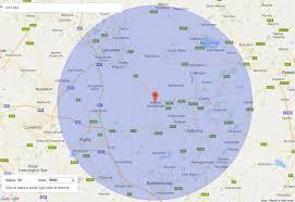Google Maps Radius Popular 225 List Mile Radius Map