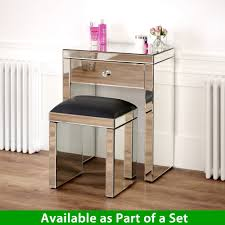 Venetian Mirrored Console Table Venetian Mirrored Compact 1 Drawer Console Table