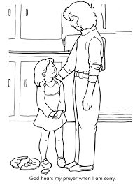 god hears my prayers coloring page