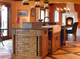 simple country kitchen designs concrete accent walls rectangle